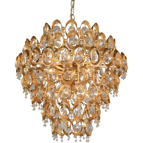 Y-Decor 12 Light Crystal Chandelier in Gold finish