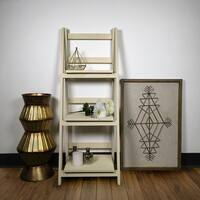 Jia Home Wood 3-tier Folding Ladder Display Shelf