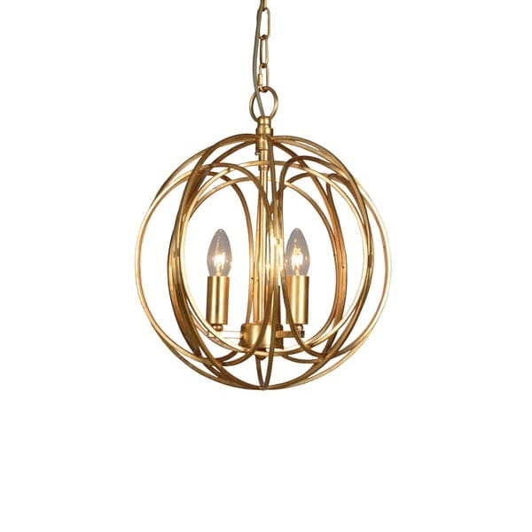 Y-Decor 3 Light Orb Chandelier in Gold finish