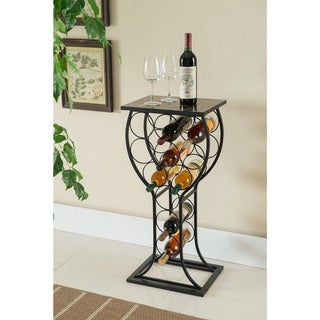 assembly required wine racks shop the best brands today With best brand of paint for kitchen cabinets with wine bottles candle holders