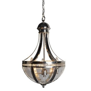 Y-Decor 3 Light Chandelier in Nickel finish