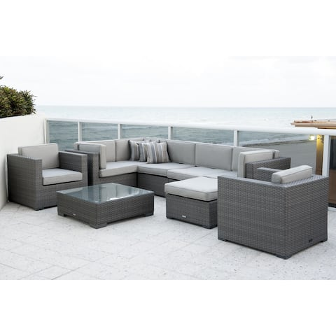 Havenside Home Fort Lauderdale 9-piece Sectional Set with Sunbrella Cushions