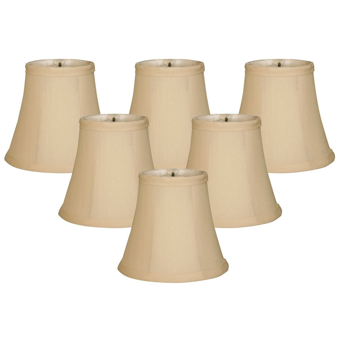 Royal Designs Chandelier Lamp Shades 3 X 5 X 4 5 Soft Bell Beige Clip On Set Of 6 Cso 1023 5bg 6