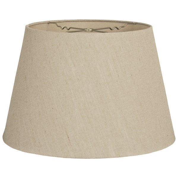 Royal Designs Beligium Linen 9.5-inch x 14-inch x 9.5-inch Tapered Shallow Drum Hardback Lamp Shade
