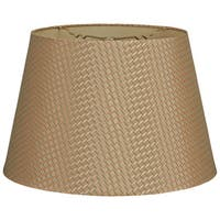 Royal Designs Gold Tapered Shallow Drum Hardback Lamp Shade
