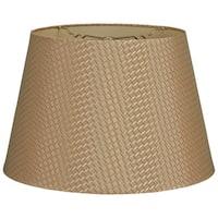 Royal Designs Gold Tapered Shallow Drum Hardback Lamp Shade