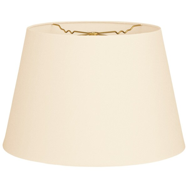 Royal Designs Tapered Shallow Drum Hardback Eggshell Fabric 9.5 x 14 x 9.5 Lamp Shade