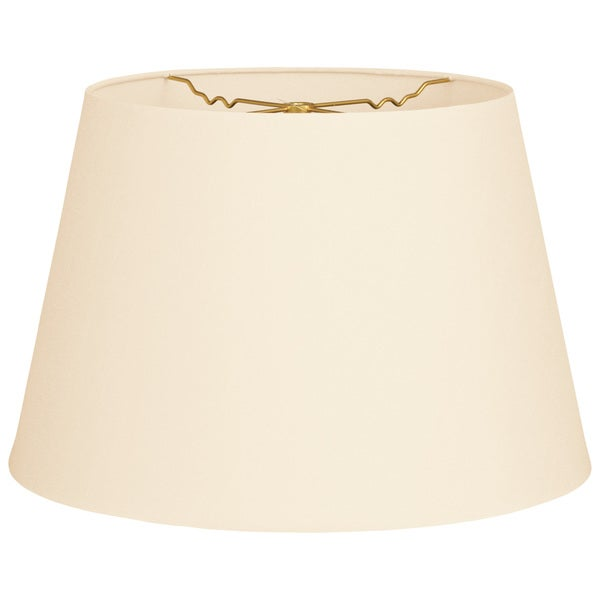 Royal Designs Burlap, 9.5 x 14 x 9.5-inch Tapered Shallow Drum Hardback Lamp Shade