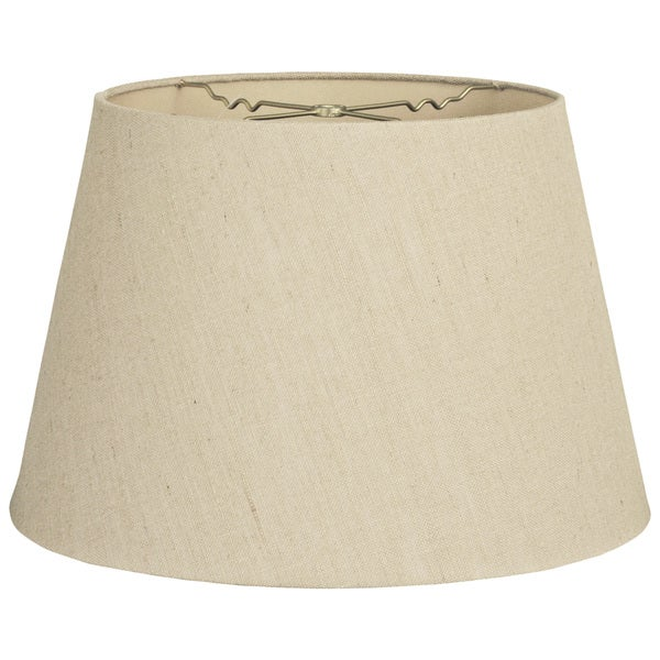 Royal Designs Beige Linen Tapered Shallow Drum Hardback Lampshade