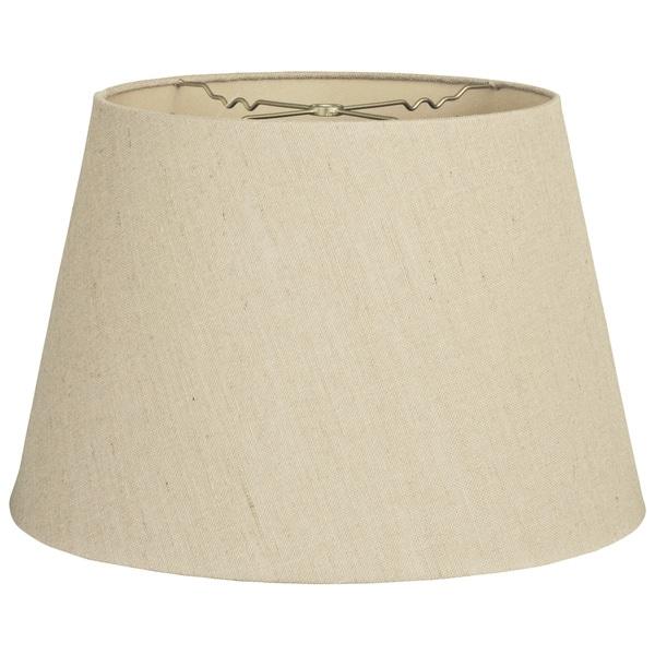Royal Designs Eggshell Linen Tapered Shallow Drum Hardback Lamp Shade