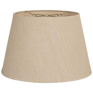 Royal Designs Linen Tapered Shallow Drum Hardback Lamp Shade