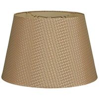 Royal Designs Tapered Shallow Drum Green/Gold 8-inch x 12-inch x 8.5-inch Hardback Lampshade