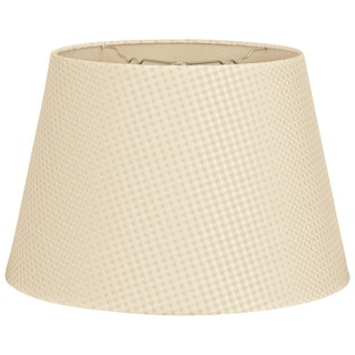 Royal Designs Tapered Shallow Drum Hardback Lamp Shade, Beige Cream, 8 x 12 x 8.5