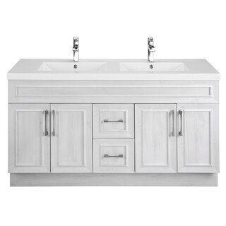 Cutler Kitchen & Bath Classic Collection White 60-inch Transitional Door Vanity with Double Sink