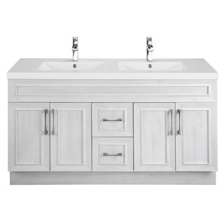 Merveilleux Cutler Kitchen U0026 Bath Classic Collection White 60 Inch Transitional Door  Vanity With Double Sink