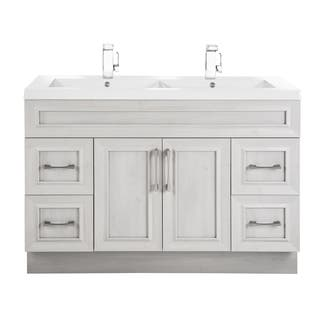 white vanity double sink. Cutler Kitchen  Bath Classic Collection MDF Transitional Door Vanity With Double Sink Size Vanities White Bathroom Cabinets For