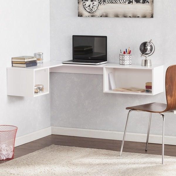 SEI Furniture Freda Wall Mount Corner Desk - White. Opens flyout.