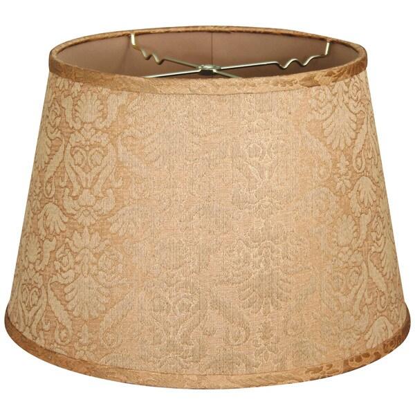 Royal Designs Gold Shallow Drum Hardback Lamp Shade