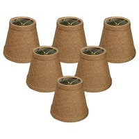 Royal Designs Hardback Empire Burlap 5-inch Chandelier Lamp Shades (Set of 6)