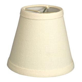 Chandelier shades at overstock royal designs empire eggshell linen 5 inch hardback chandelier lamp shades set of 6 mozeypictures Image collections