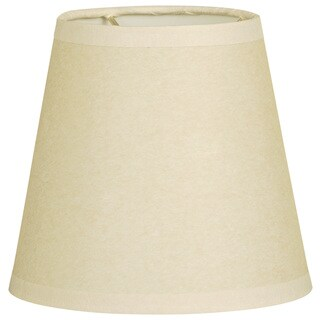 Royal Designs Beige Fabric 6-inch Parchment Empire Chandelier Lampshades (Set of 6)