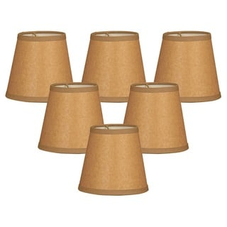 Royal Designs Brown Parchment 5-inch Chandelier Lamp Shades (Set of 6)