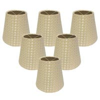 "Royal Designs Hardback Empire Beige/ Cream 3 x 5 x 4.5,"" Clip On- Chandelier Lamp Shade (Set of 6)"