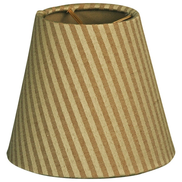 Royal Designs Gold/Green Fabric 6-inch Hardback Empire Lampshade