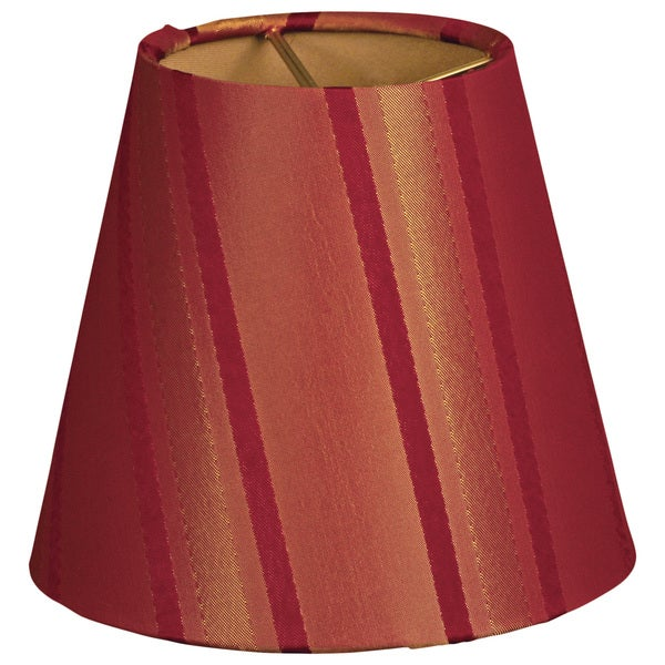 Royal Designs Burgundy/Gold 6-inch Hardback Empire Chandelier Lampshades (Set of 6)