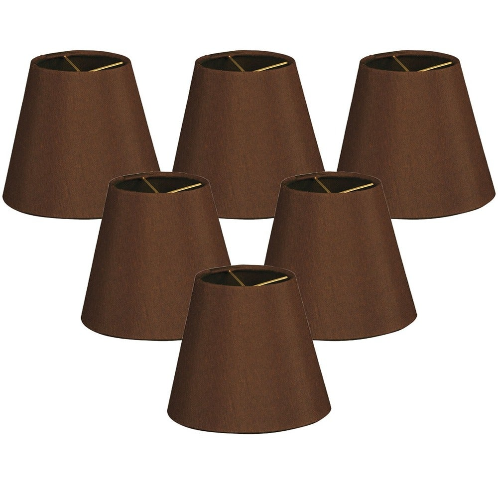 Black Beaded Chandelier Clip on Lamp Shades Set of 6 ~ never used