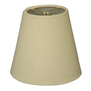 Royal Designs Beige Linen 5-inch Chandelier Lamp Shades (Set of 6)