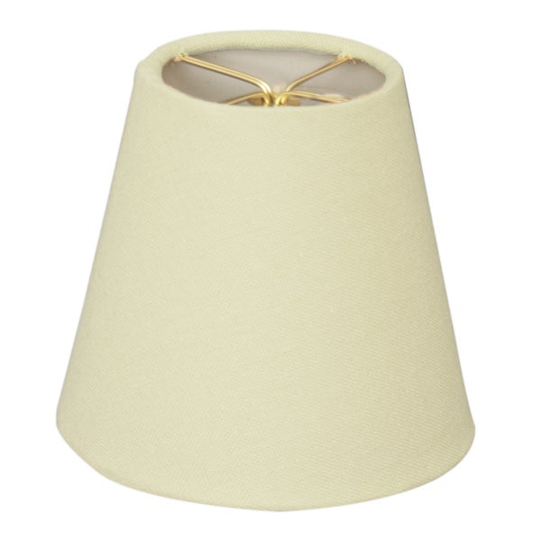 Royal Designs Chandelier Linen Eggshell 6-inch Lampshades (Set of 6)