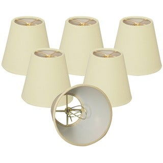Royal Designs Eggshell Linen 5-inch Chandelier Lampshades (Set of 6)