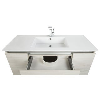 Cutler Kitchen U0026 Bath Amazon Wood 48 Inch Floating Vanity