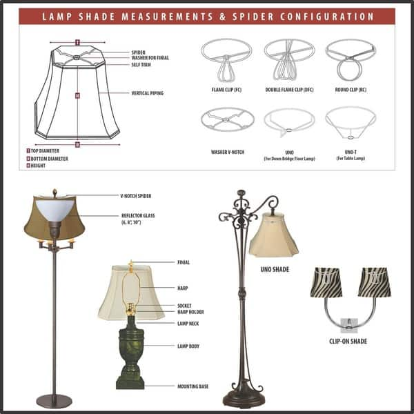 Twisted Bell Chandelier Lampshades