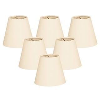 Royal Designs Eggshell 6-inch Hardback Empire Chandelier Lampshades (Set of 6)