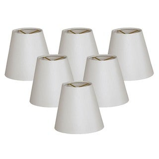 Royal Designs Hardback Empire White 3 x 5 x 4.5-inch Clip-on Chandelier Lamp Shade (Set of 6)