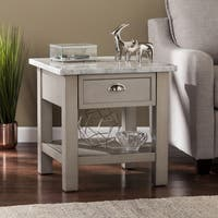 Harper Blvd Yardley Faux Marble Square End Table - Gray