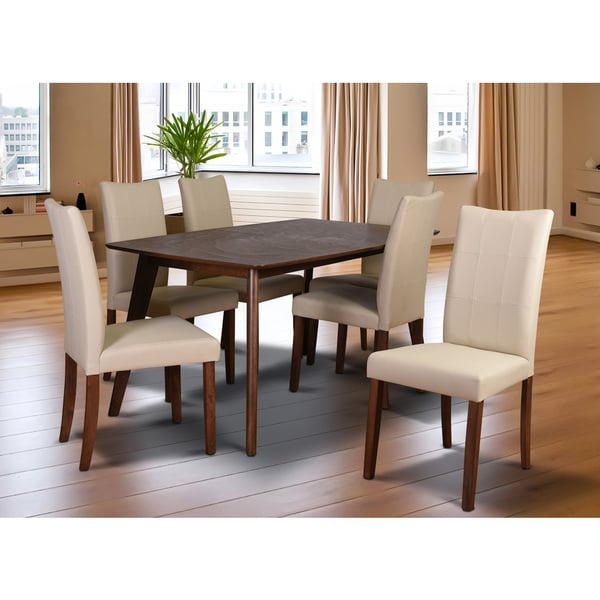 Tatiana mid century 7 piece living room dining set cream for 7 piece living room set