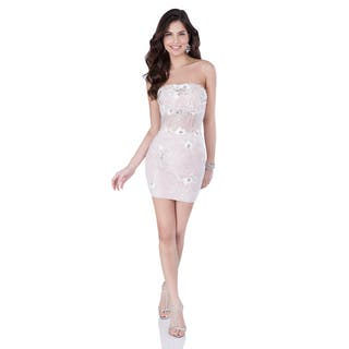 Terani Couture Women's Pink Strapless Corset Detail Short Homecoming Dress|https://ak1.ostkcdn.com/images/products/15052609/P21545637.jpg?impolicy=medium