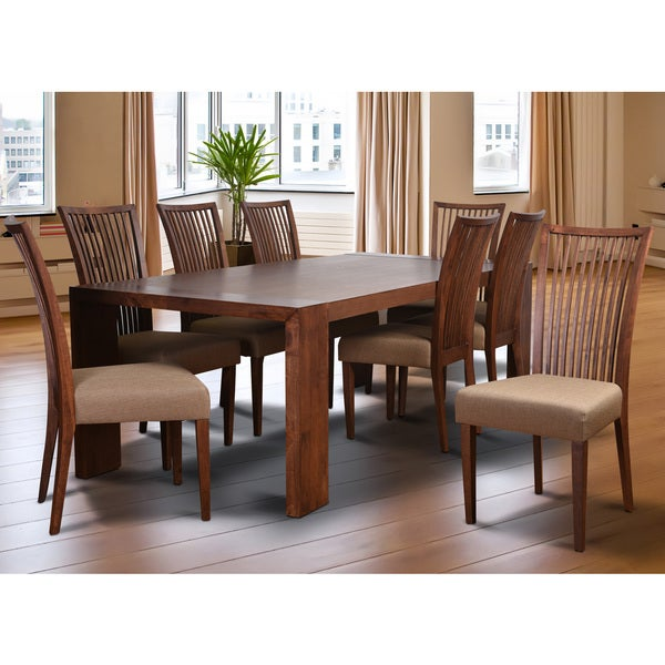 9 piece dining room sets | Cynthia Deluxe Mid-Century 9 Piece Living Room Dining Set ...