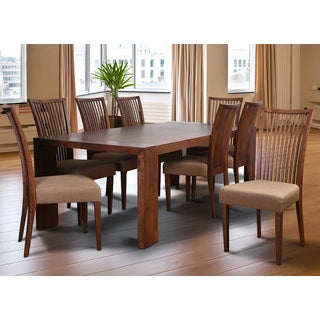 Cynthia Deluxe Mid-Century 9 Piece Living Room Dining Set, Latte Textile