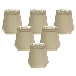 Royal Designs Beige 5-inch Hexagon Chandelier Lamp Shades (Set of 6)