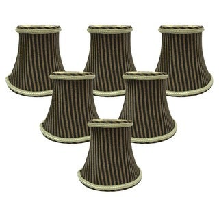 Royal Designs Antique Gold/Brown 5-inch Chandelier Lamp Shades (Set of 6)