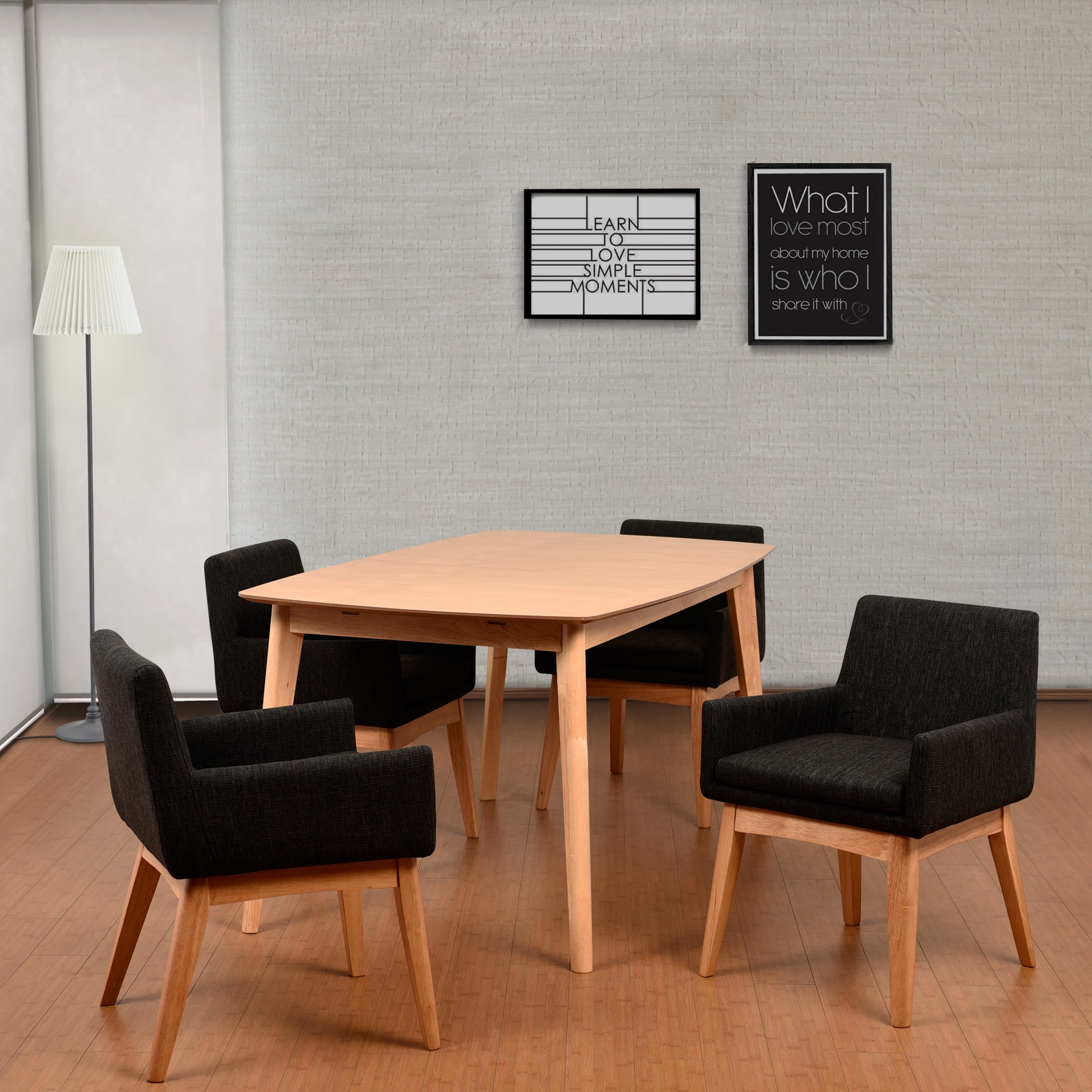 Midtown Concept Ruby Mid-Century 5 Piece Natural Living R...