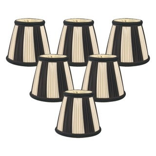 Royal Designs Black 5-inch Decorative Trim Empire Chandelier Lamp Shades (Pack of 6)