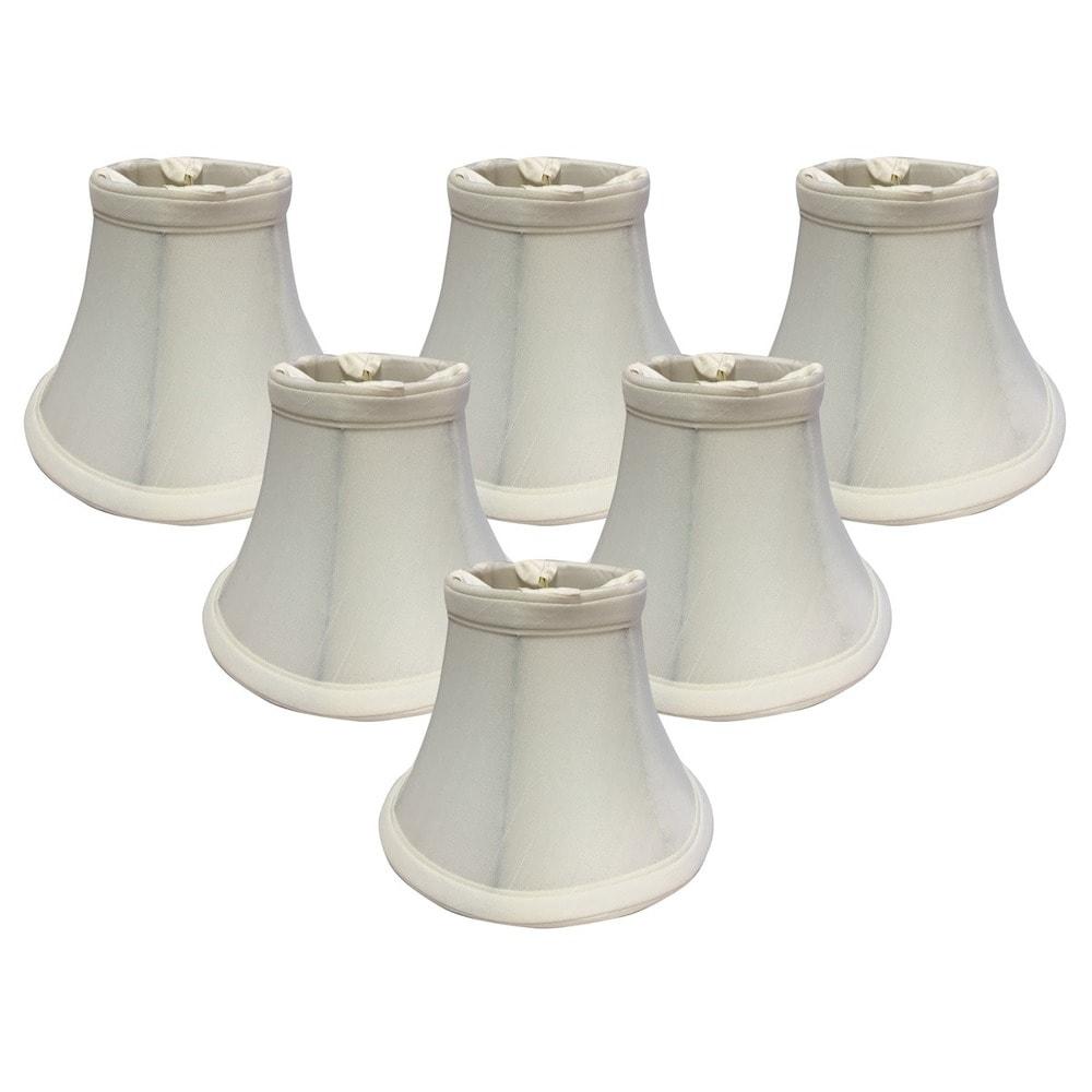 Set of 6 Chandelier Lamp Shades 6 Inch Belgium Linen