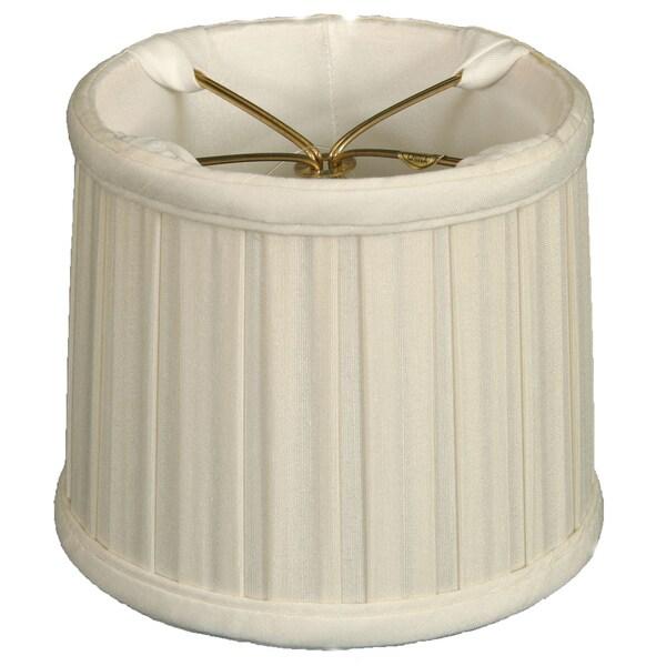 Royal Designs White Silk 5-inch English Box Pleat Chandelier Shades (Set of 6)