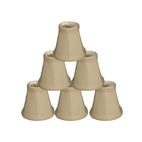 """Royal Designs Beige Empire Chandelier Lamp Shade, 2"""" x 3.5"""" x 3.5"""", Clip On-Set of 6"""