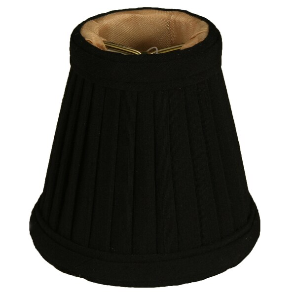 Royal Designs Black 3.5-inch Empire Chandelier Lamp Shades (Pack of 6)